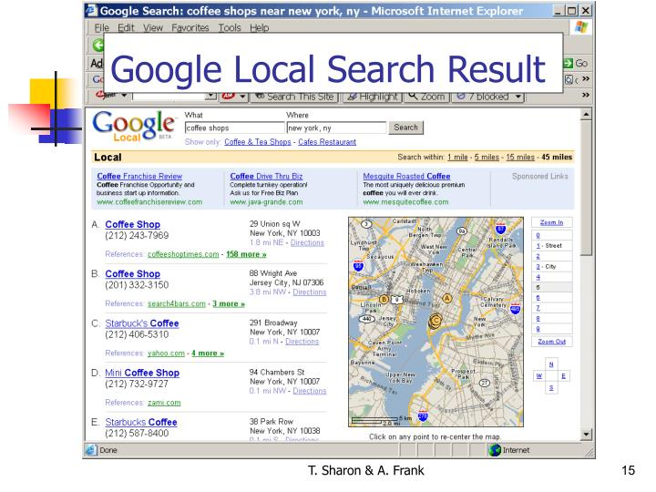 Google Local Search Result