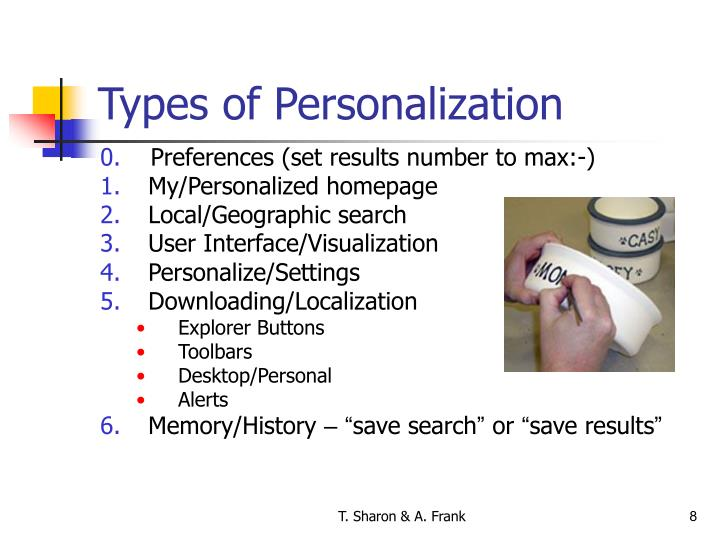 Types of Personalization