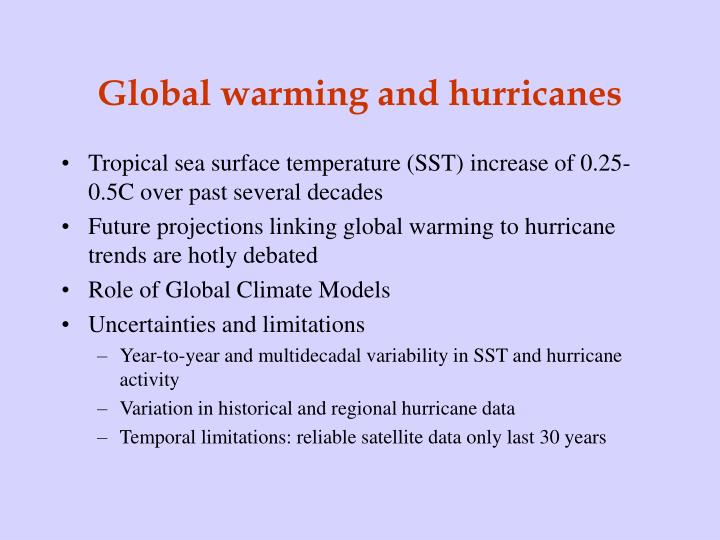 Global warming and hurricanes