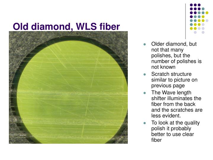 Old diamond, WLS fiber