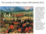 the surrender at vil gos august 1849 painted 1851