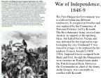 war of independence 1848 9