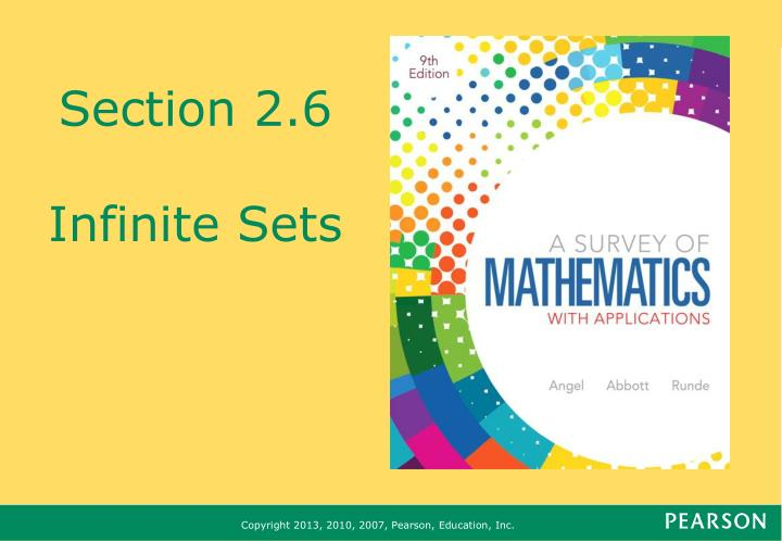 section 2 6 infinite sets n.