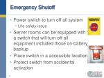 emergency shutoff