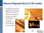 secure disposal end of life cycle