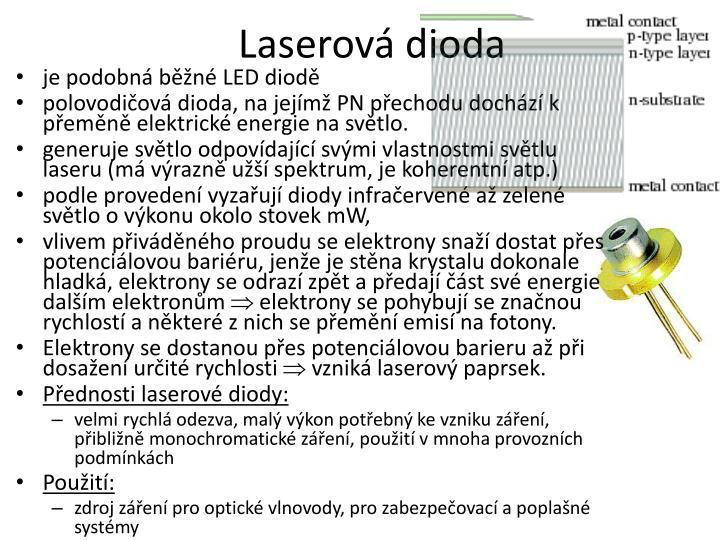 Laserová dioda