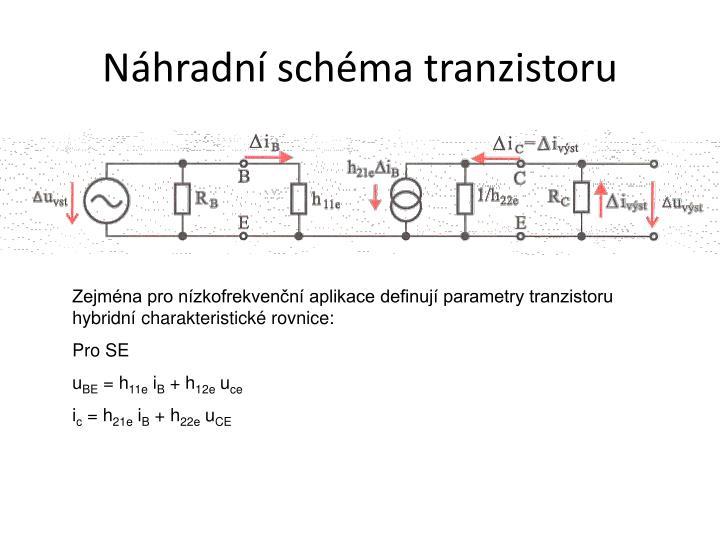 Náhradní schéma tranzistoru