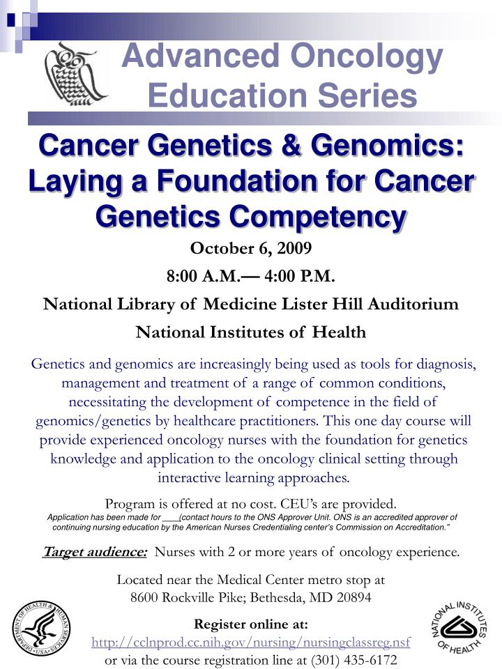Advanced oncology education series