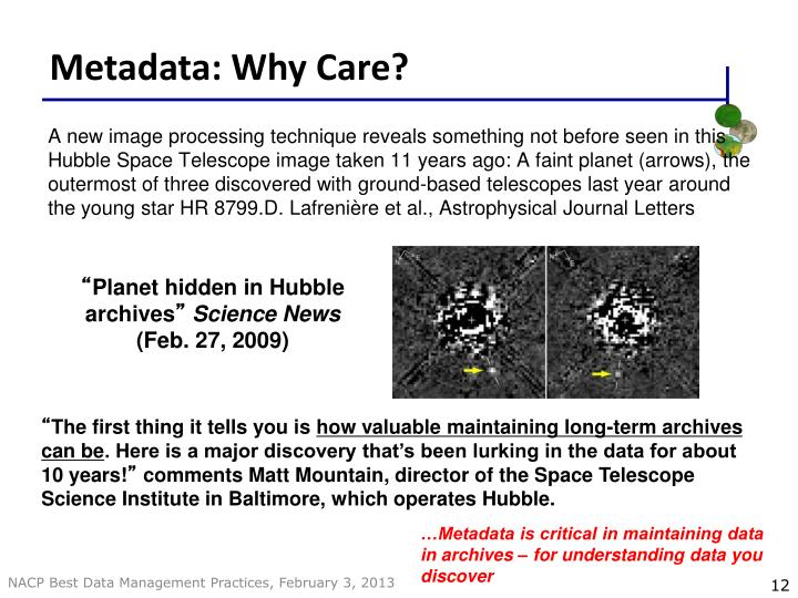 Metadata: Why Care?