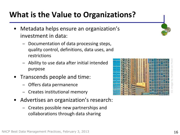 What is the Value to Organizations?