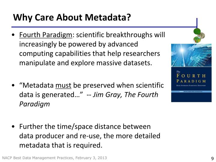 Why Care About Metadata?