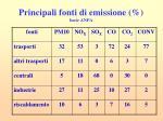 principali fonti di emissione fonte anpa