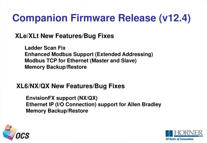 Companion Firmware Release (v12.4)