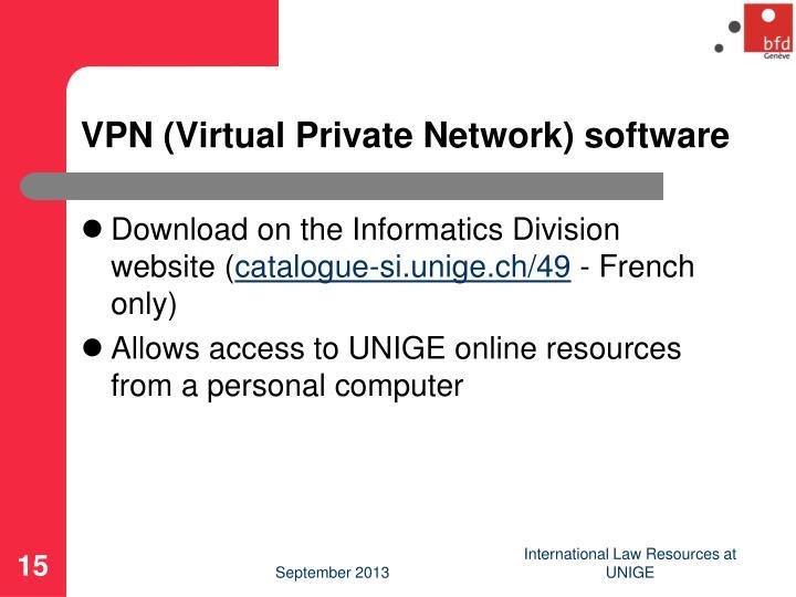 VPN (Virtual Private Network) software