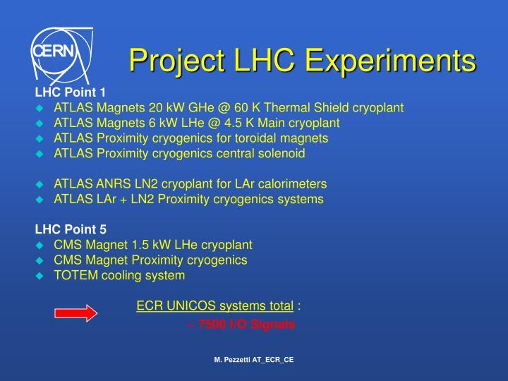 Project LHC Experiments