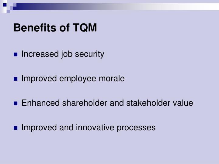 Benefits of TQM