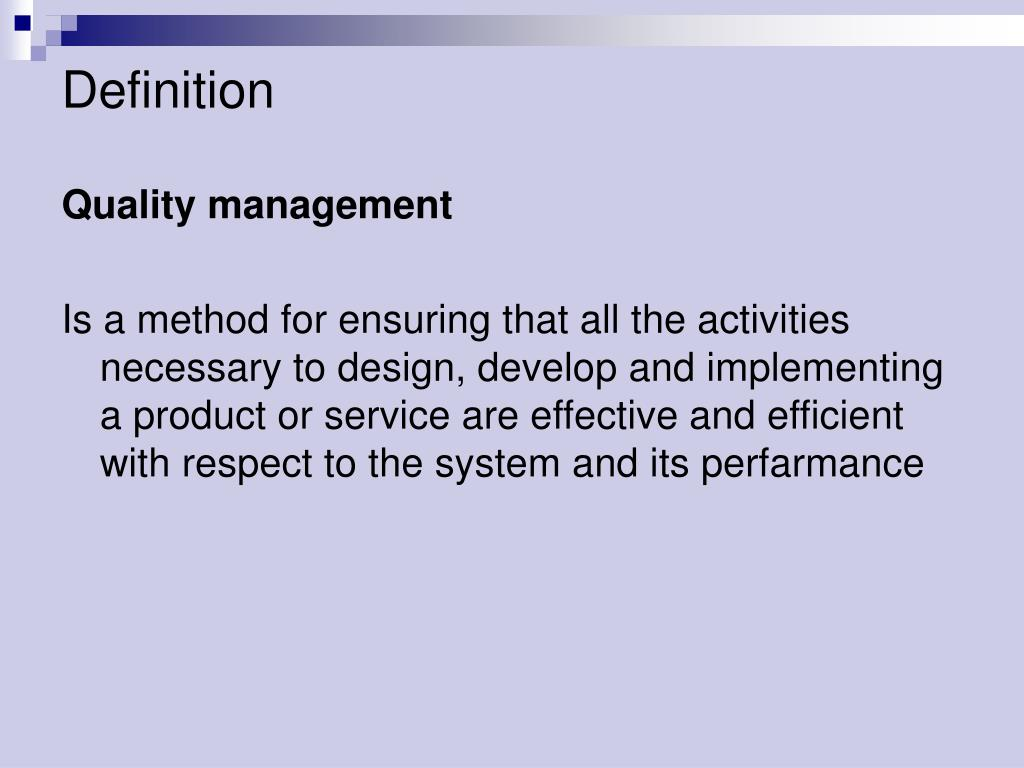 Ppt Quality Management Powerpoint Presentation Free Download Id 3839606