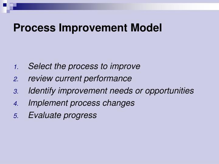 Process Improvement Model