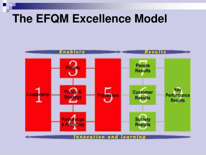 The EFQM Excellence Model