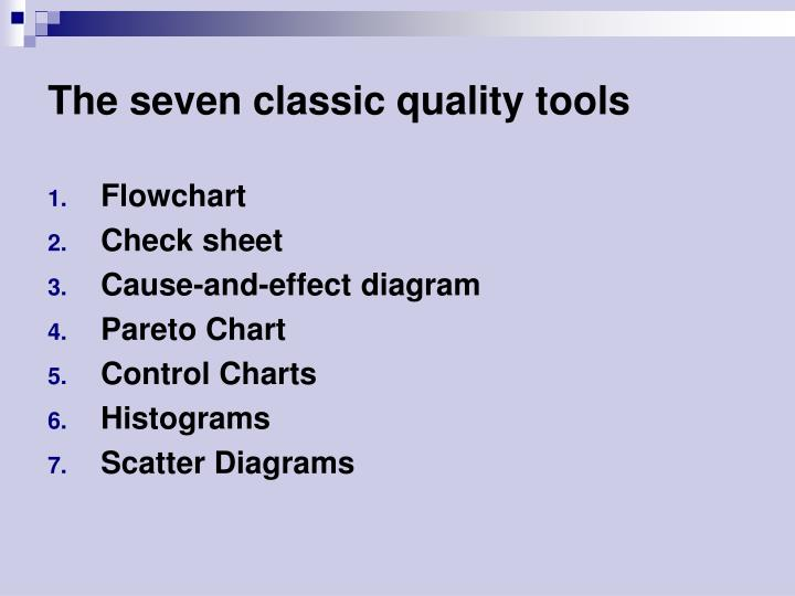The seven classic quality tools
