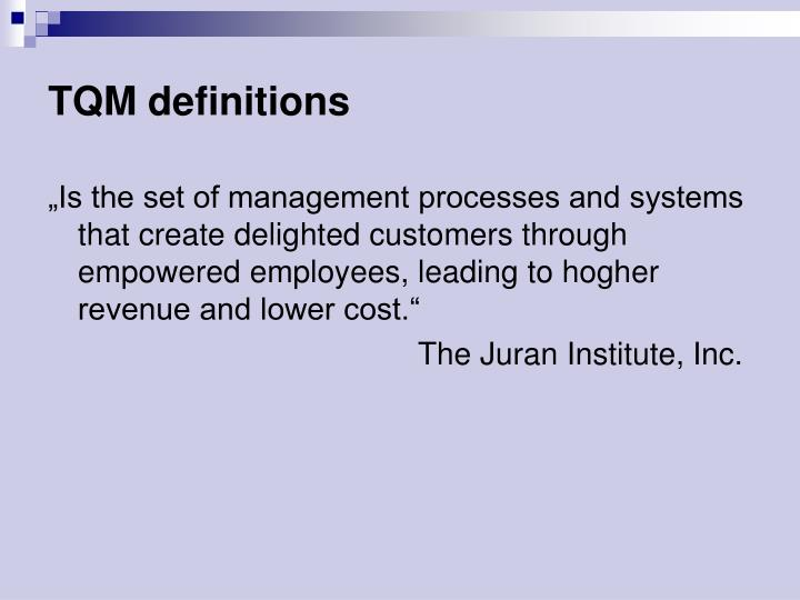 TQM definitions