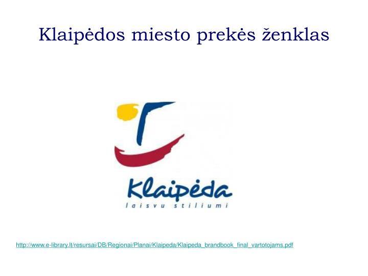 Klaipėdos miesto prekės ženklas