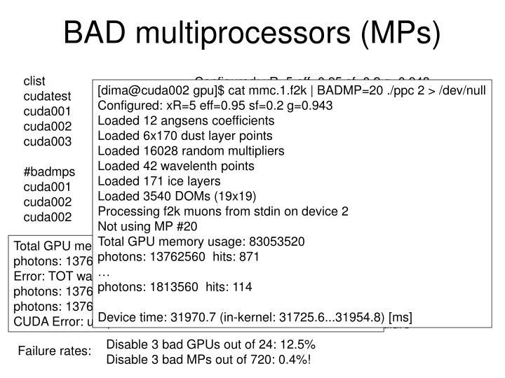 BAD multiprocessors (MPs)