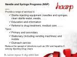 needle and syringe programs nsp
