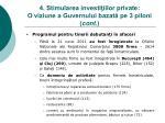 4 stimularea investi iilor private o viziune a guvernului bazat pe 3 piloni cont
