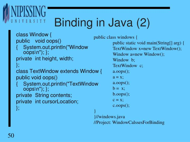 Binding in Java (2)