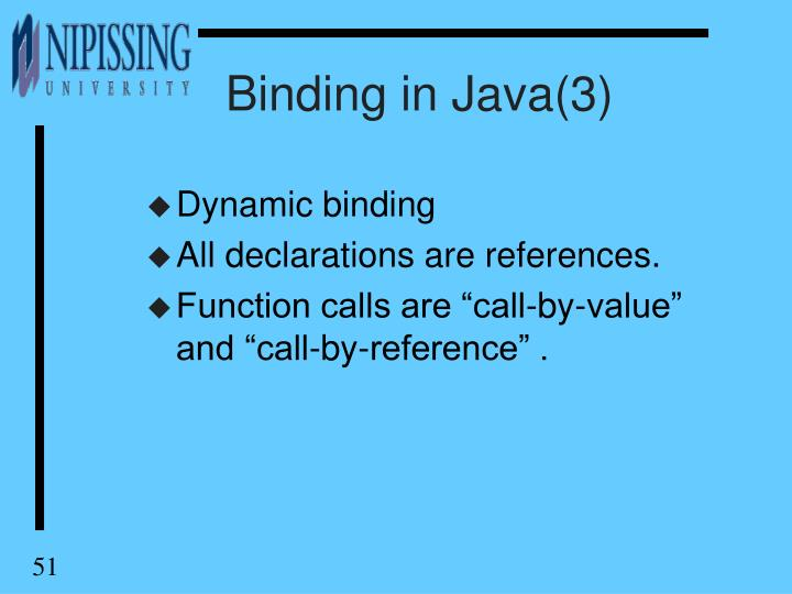 Binding in Java(3)