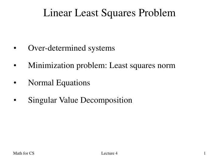 linear least square s problem n.
