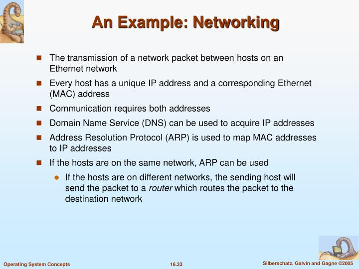 An Example: Networking