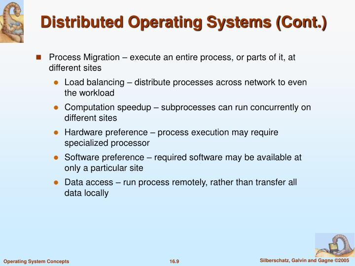 Distributed Operating Systems (Cont.)