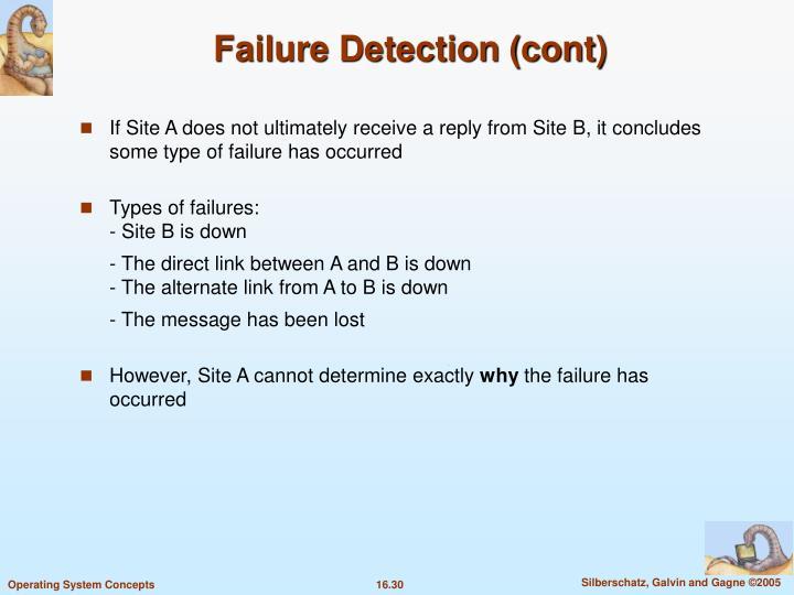 Failure Detection (cont)