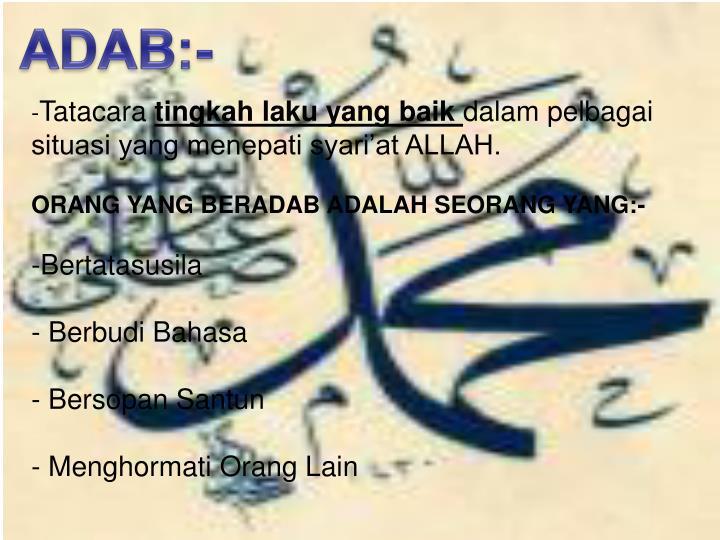 ADAB:-