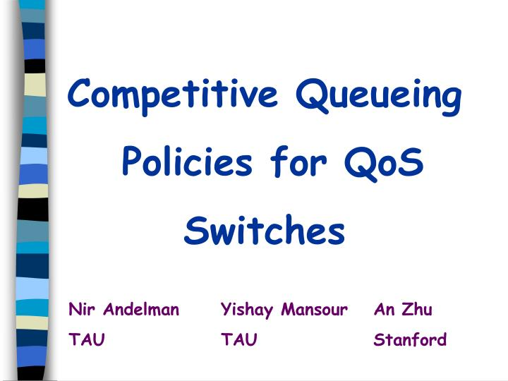 Competitive Queueing