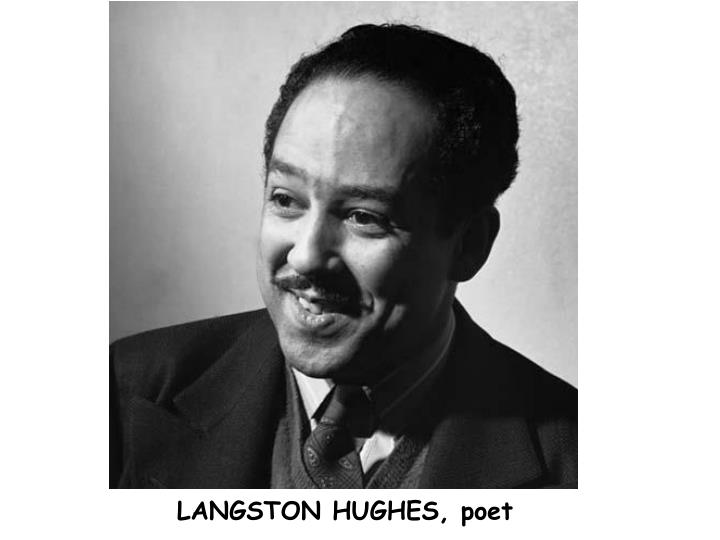 langston hughes poet to patron We are the american heartbreak: langston hughes on race in a rare recording the african american poet we are the american heartbreak.
