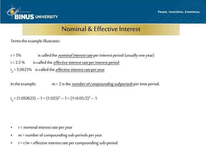 Nominal & Effective Interest