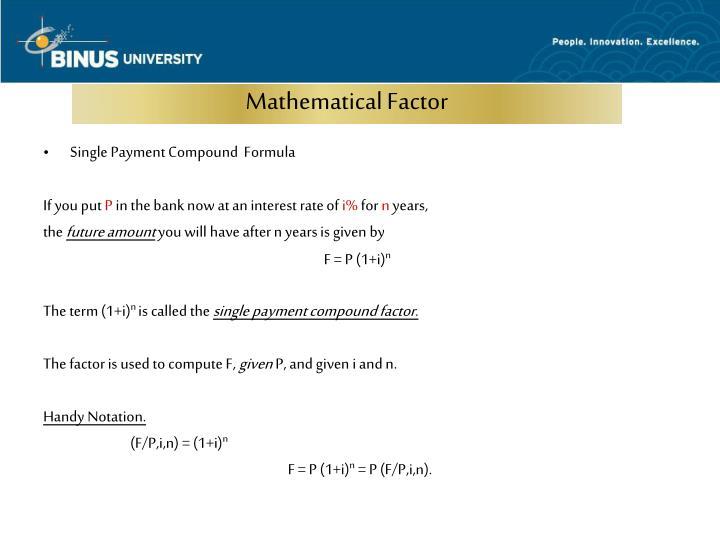 Mathematical Factor