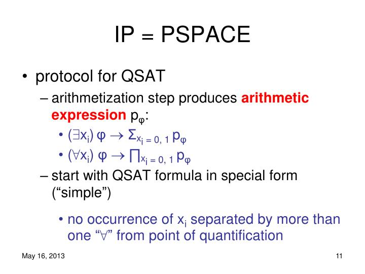 IP = PSPACE