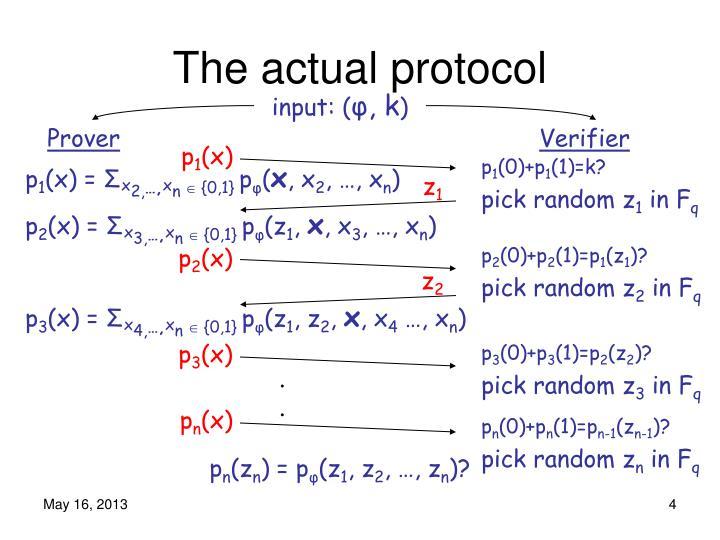 The actual protocol