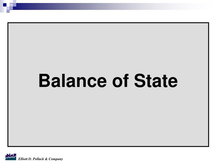 Balance of State