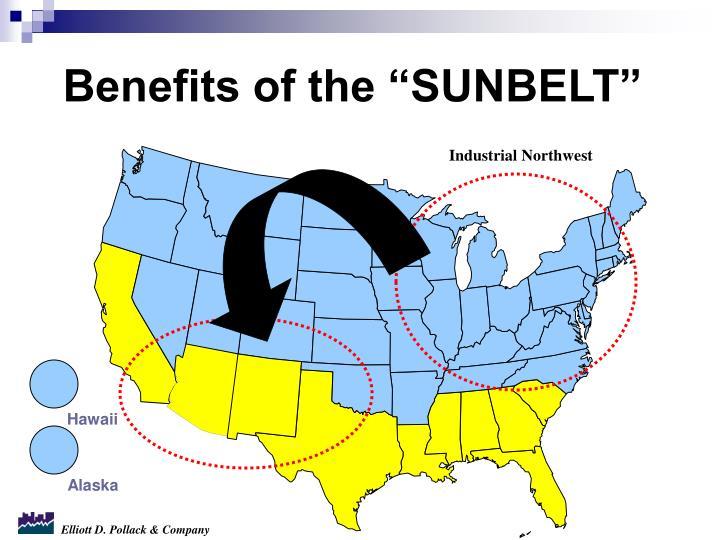 "Benefits of the ""SUNBELT"""