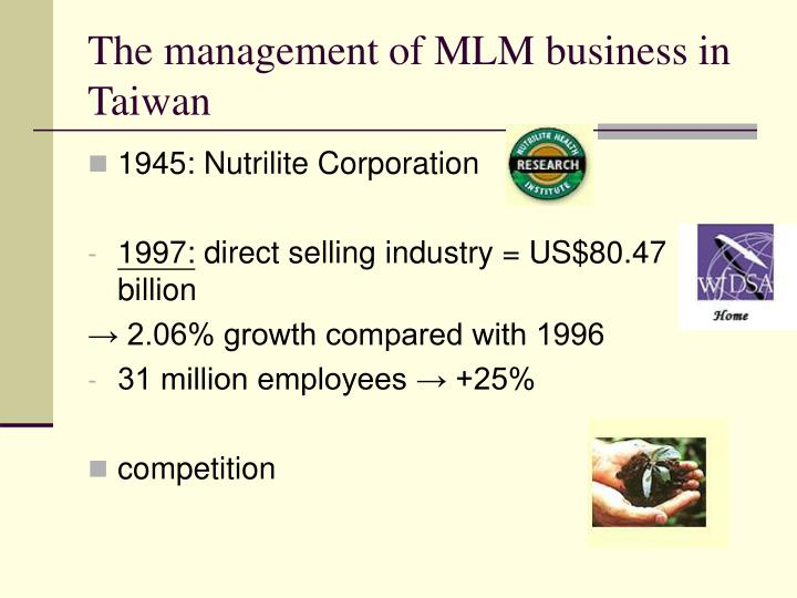 the management of mlm business in taiwan n.
