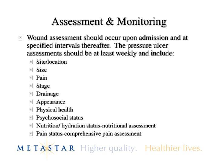 Assessment & Monitoring