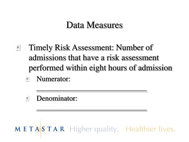 Data Measures