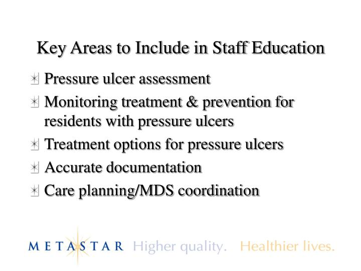 Key Areas to Include in Staff Education