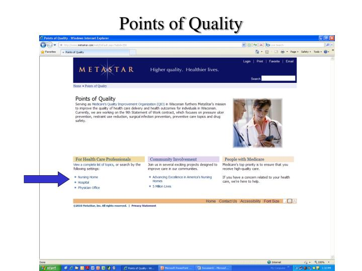 Points of Quality
