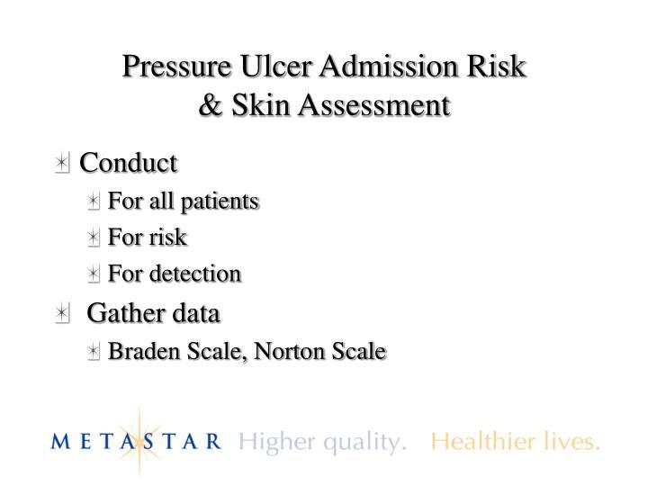Pressure Ulcer Admission Risk
